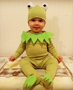 Kermit the Frog Baby Homemade Costume