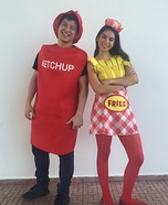 Ketchup and Fries Homemade Costume