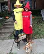 Ketchup Mustard and Hot Dogs Costume