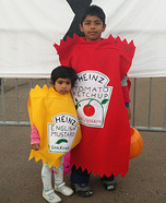 Ketchup with Mustard Homemade Costume