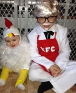 KFC Colonel Sanders and Chicken Homemade Costumes