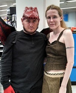 Khaleesi and her Dragon Homemade Costume