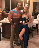 Khaleesi and Khal Drogo Homemade Costume