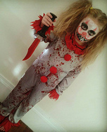 Killer Clown Girl Homemade Costume