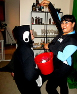 Killer Whale and his Trainer Homemade Costume