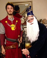 Coolest couples Halloween costumes - King Arthur and Merlin Costume
