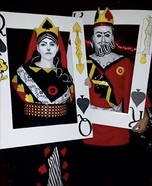 King & Queen of Spades Homemade Costume
