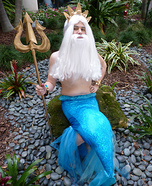 Homemade King Triton Costume