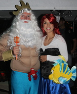 King Triton and the Little Mermaid Costume Ideas for Couples