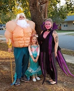 King Triton, Ursula and Little Mermaid Homemade Costume