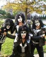 Homemade KISS Band Costumes