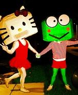 Hello Kitty and Keroppi Homemade Costumes