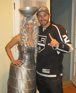 Coolest couples Halloween costumes - LA Kings player with Stanley Cup Halloween Costume