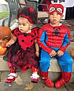 Lady Bug & Spider Man Homemade Costumes