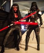 Lady Darth Vader and Darth Maul Homemade Costume
