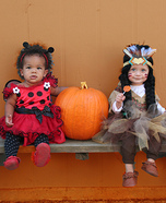 Ladybug and Indian Princess Costumes