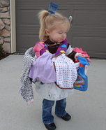 Homemade Laundry Basket Costume