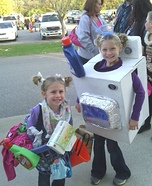 Washing Machine and Laundry Basket Homemade Costumes