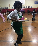 Lawanda the Lunch Lady Homemade Costume