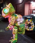 LED Color Sensing Chameleon Homemade Costume