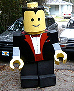 Homemade LEGO costume - Lego Man Costume