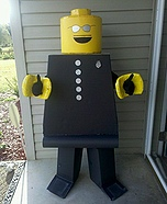 Homemade LEGO costume - Homemade Lego Man Costume