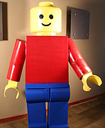 Lego costume ideas - Homemade Lego Man Costume
