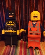 Lego Batman and Lego Emmet Homemade Costume