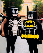 Lego Batman and Lego Venom Homemade Costume