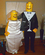 Couples Halloween costume idea: Lego Bride and Groom Costume