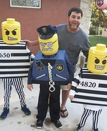 Lego Cop and Robbers Homemade Costume