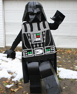 Homemade LEGO Darth Vader Costume