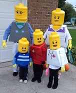 Lego costume ideas - Lego Family Costume