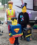 Homemade Lego Family Costume