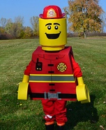 Lego Fireman Homemade Costume
