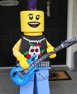 Homemade Lego Guitar Man Costume