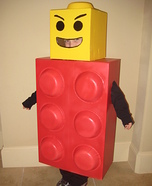 DIY LEGO costume: Homemade Lego Man Costume