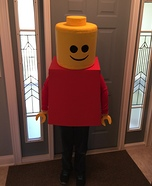Lego Man Homemade Costume