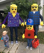 LEGO Mini Figure Family Homemade Costume