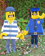 Lego Minifig Cop and Crook Boys Homemade Costume