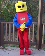 Lego costume ideas - Homemade Lego Minifigure Costume