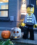 "DIY LEGO costume: Lego Minifigure ""Bad Guy"" Costume"