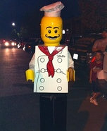 Lego Minifigure Chef DIY Costume