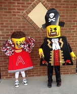 Lego Minifigures: Pirate and Cheerleader Homemade Costume