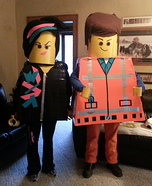 Lego Movie Emmet & Wyldstyle Homemade Costumes