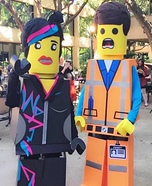 Lego Movie Wyldstyle and Emmet Homemade Costume