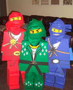 Homemade LEGO Ninjago Costumes