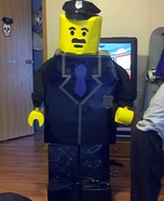 Homemade Lego Police Officer Costume