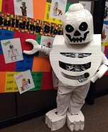 Lego Skeleton with Baby Homemade Costume