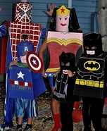 Lego Superheroes Family Homemade Costume